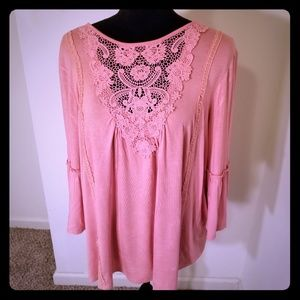 Boho Lace Front Top